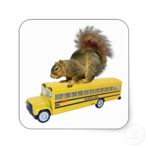 squirrel_on_school_bus_square_sticker-r5c7234d303b54339b9c372bf72b46fa0_v9wf3_8byvr_512